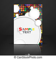 Abstract Background With White Paper Circles