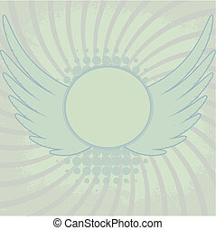 Abstract  background with wings
