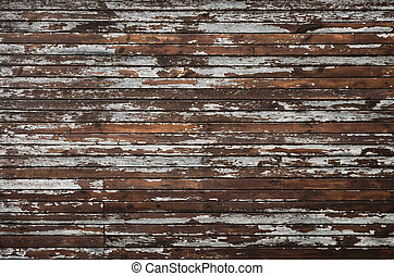 abstract background with wooden wall - weathered cracked...