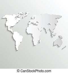 Abstract background with world map on white - vector illustration