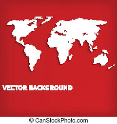 Abstract background with world map on red