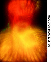 Abstract background with yellow and red stains