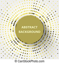 Abstract background with yellow circles halftone