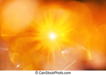 Abstract background with yellow light spots