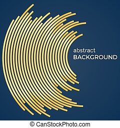 Abstract background with yellow lines. Yellow circles with place for your text