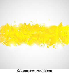 Abstract background with yellow paint splashes.
