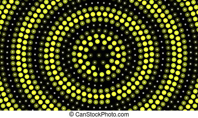 Abstract background with yellow rotating dots