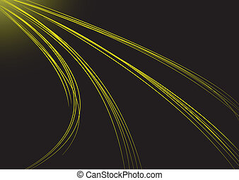 Abstract background with yellow strips