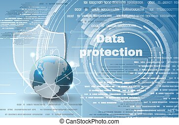 Abstract background world data protection theme