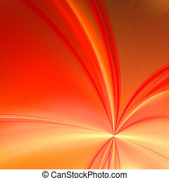 Abstract background. Yellow - orange palette. Raster fractal graphics.