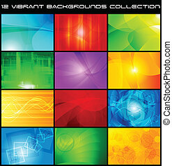 Abstract backgrounds collection - eps 10 - Set of bright...
