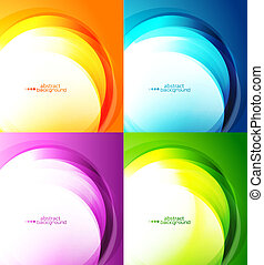 Abstract backgrounds - Light waves vector abstract eps10...