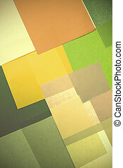 Abstract backgrounds of colors paper superimposed together