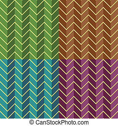 Abstract backgrounds - Seamless geometric chevron patterns...