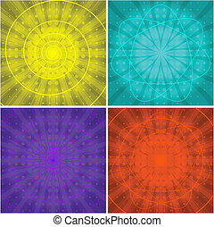 Abstract backgrounds - Set abstract color vector backgrounds...
