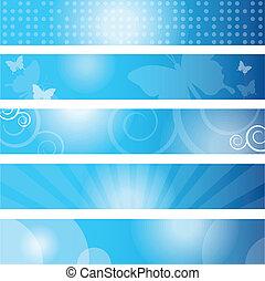 Set ob blue banners
