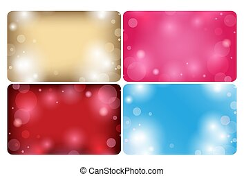abstract backgrounds with bokeh - vector cards