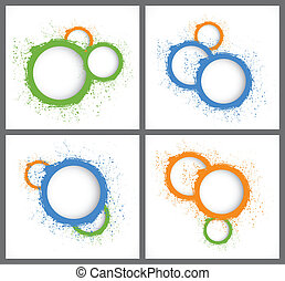 Abstract backgrounds with circles