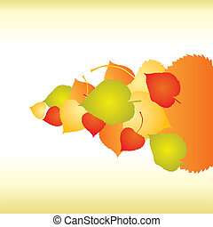 Abstract backgrounds with fall Leaf