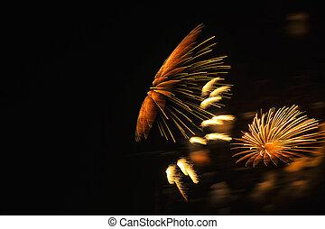 abstract, backround, van, mooi, fireworka