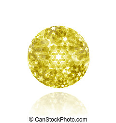 abstract ball on white background