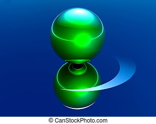 abstract balls and their reflections