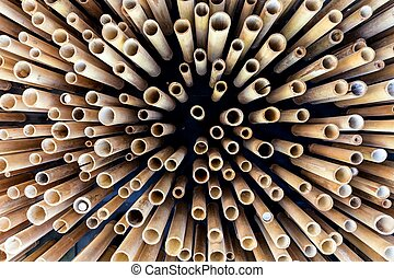 Abstract bamboo structure