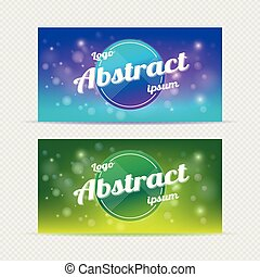 Abstract banner backgrounds light