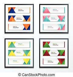 abstract banner design set