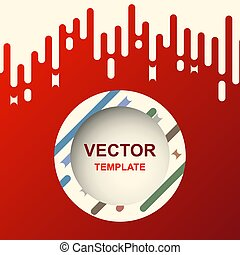 Abstract banner design template with red background