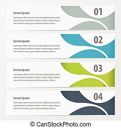 abstract banner Green, blue, gray color