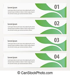 abstract banner green color