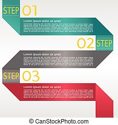 Abstract Banner In Three Step.
