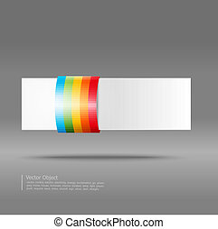 abstract banner on a gray background
