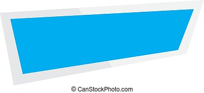 abstract banner on white background. ribbon and banner icon.