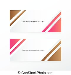 abstract banner pink, Brown