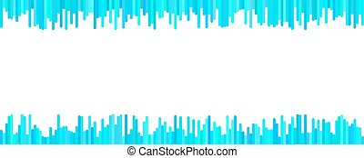 Abstract banner template design - vector graphic from vertical stripes in light blue tones on white background
