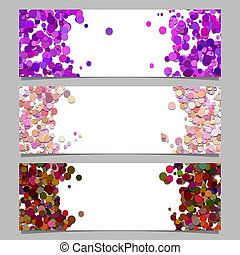 Abstract banner template set with colored dots - Abstract ...