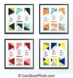 abstract banner vector set