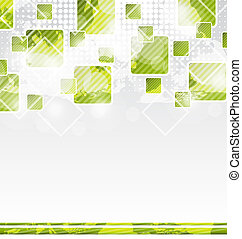Abstract banner with squares for design corporate card