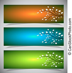 Abstract banners.