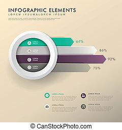 abstract bar chart infographics - colorful bar chart vector ...