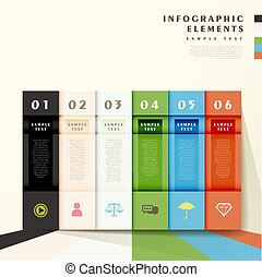 abstract bar infographics