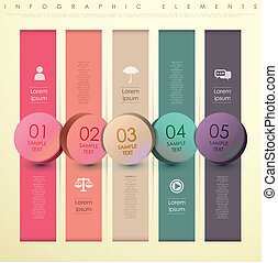 abstract bar tag infographics