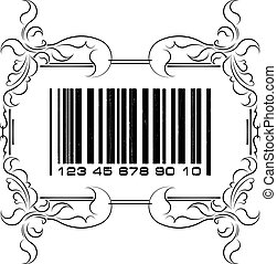 Abstract barcode with frame
