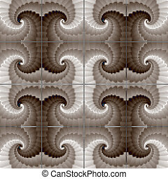 Abstract baroque seamless pattern, texture, background. Vector eps10