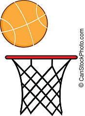 Abstract Basketball Hoop With Ball