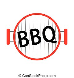Abstract BBQ label