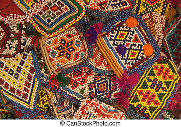 Abstract Beads Ethnic Background