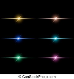 Abstract  beam Light set